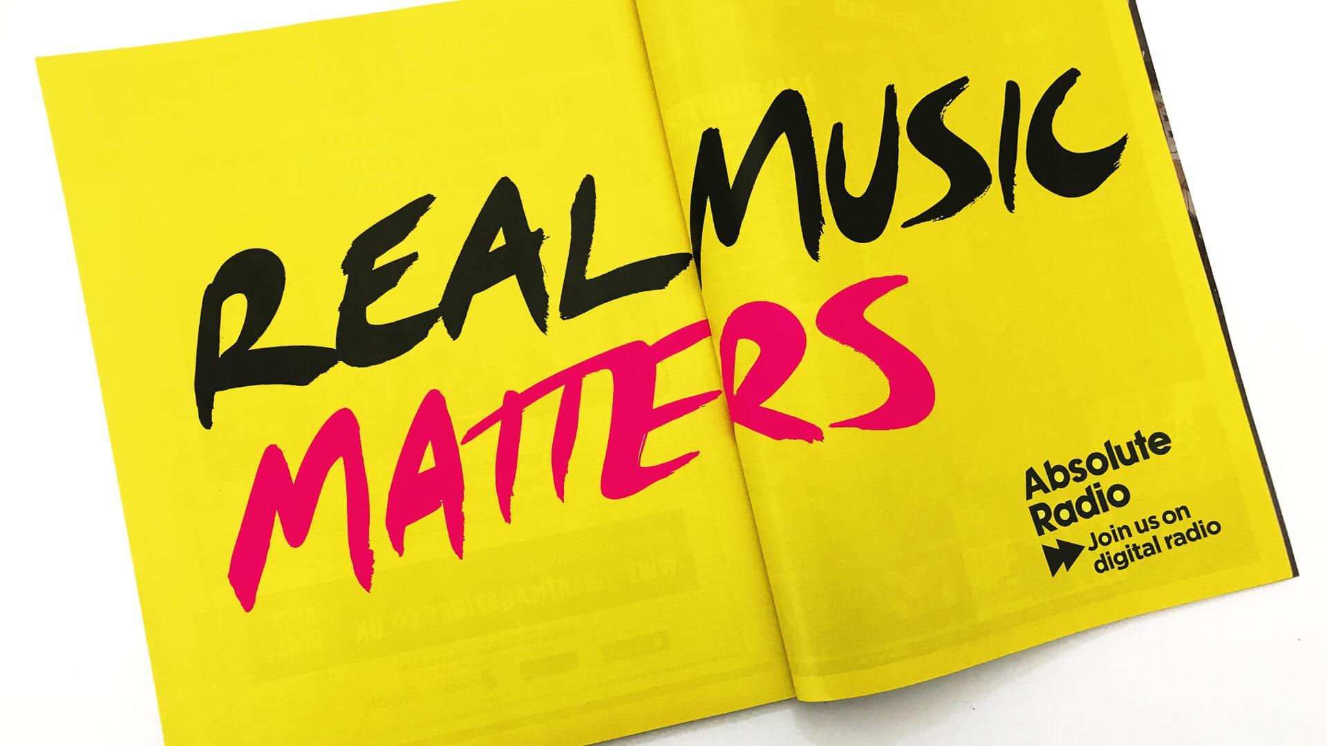 Absolute radio magazine advertising campaign