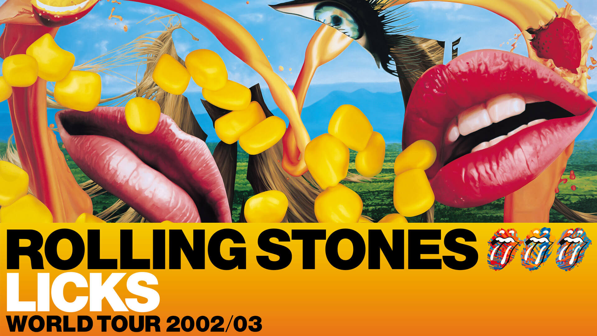 rolling stones licks tour identity posters promotions