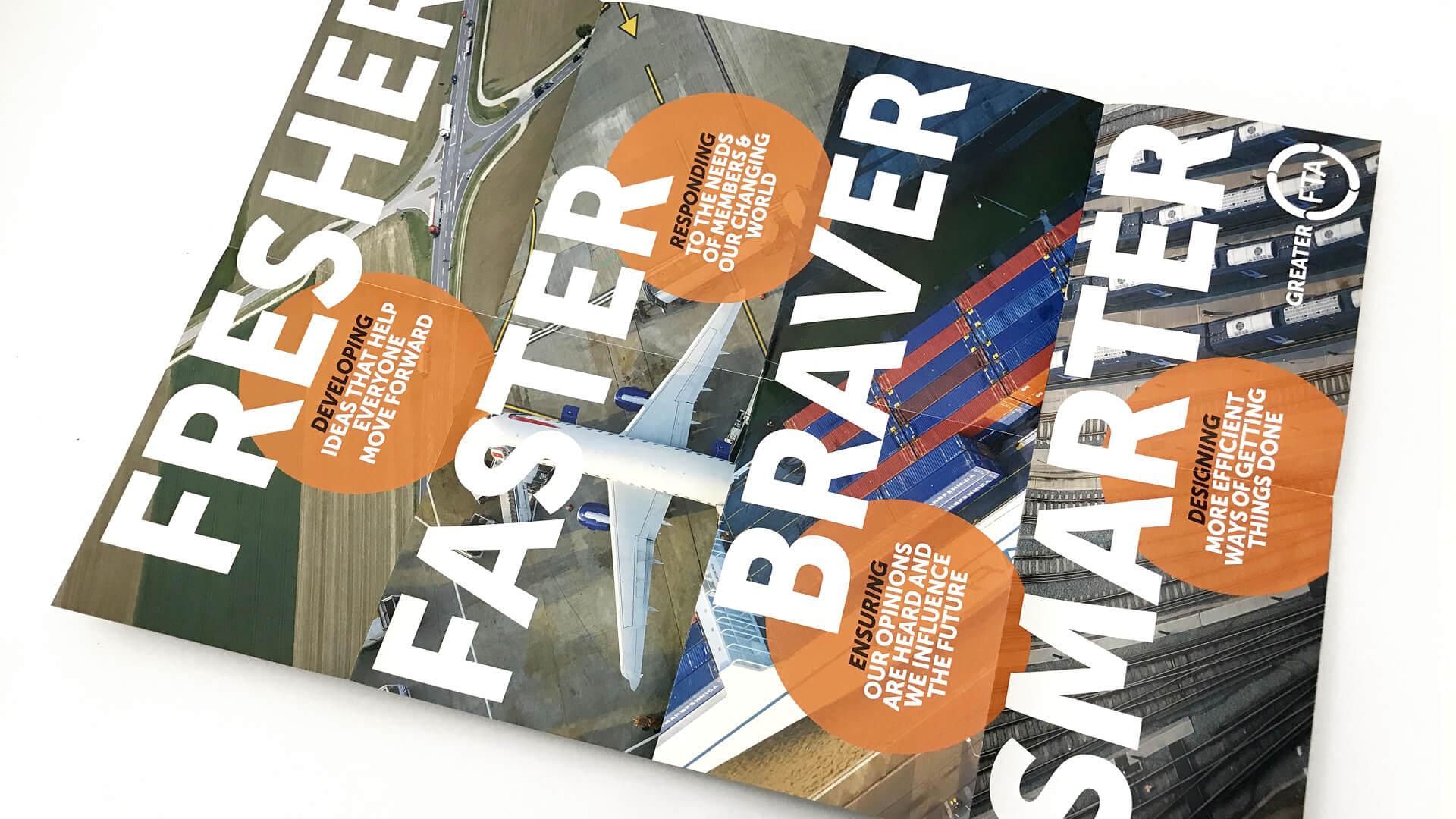 Freight transport association fta internal engagement brochure brand values