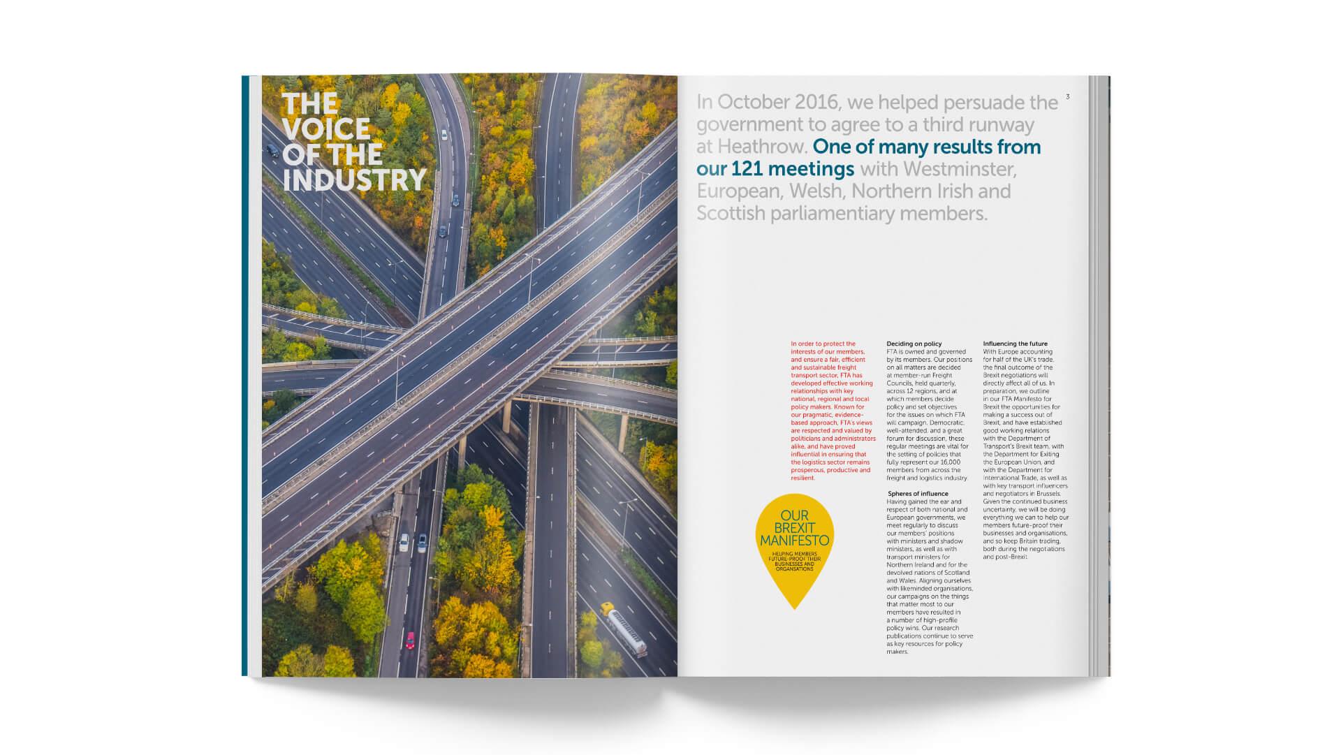 Freight transport association fta corporate brochure brand positioning