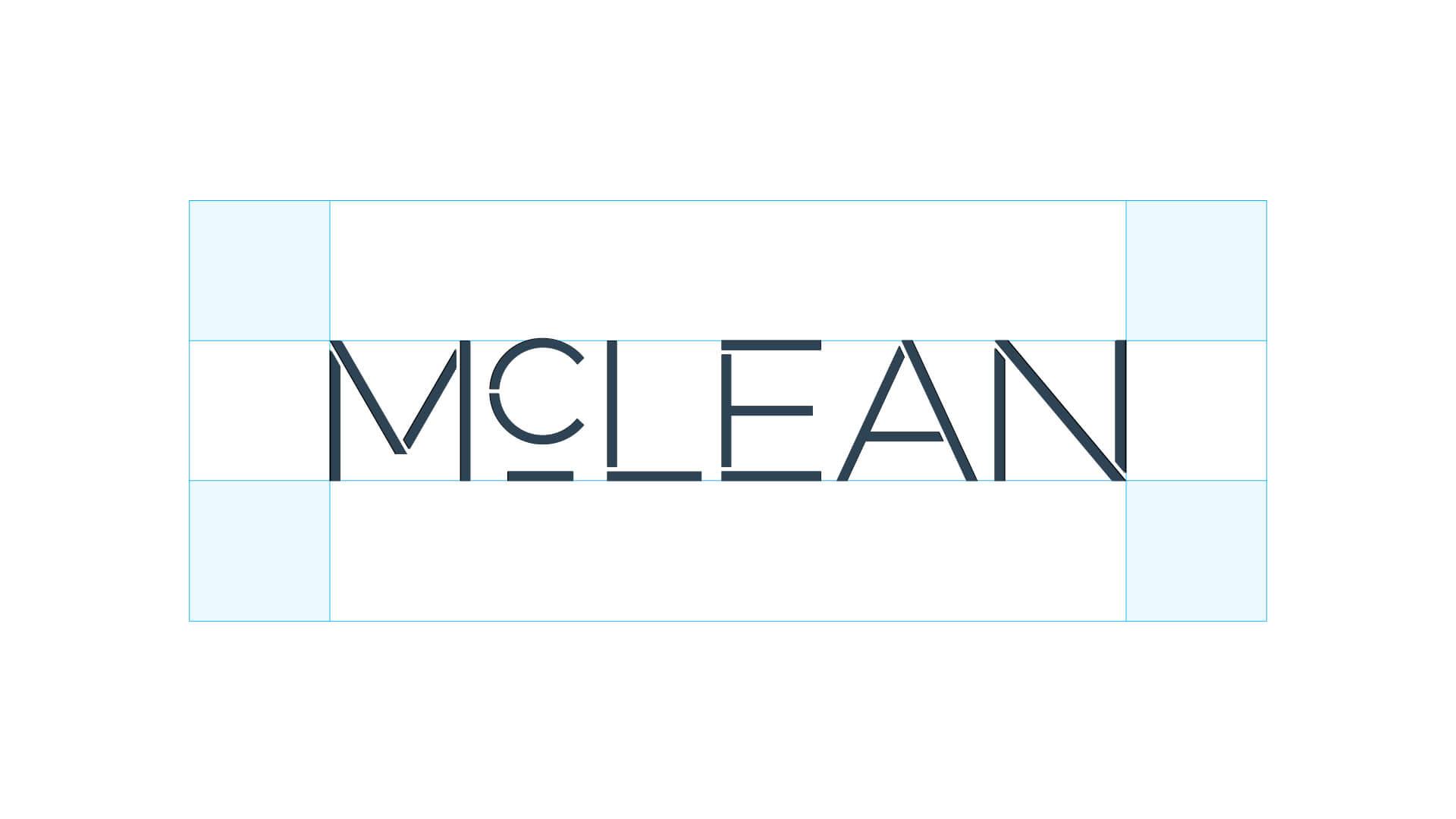 mclean group logo design brand system