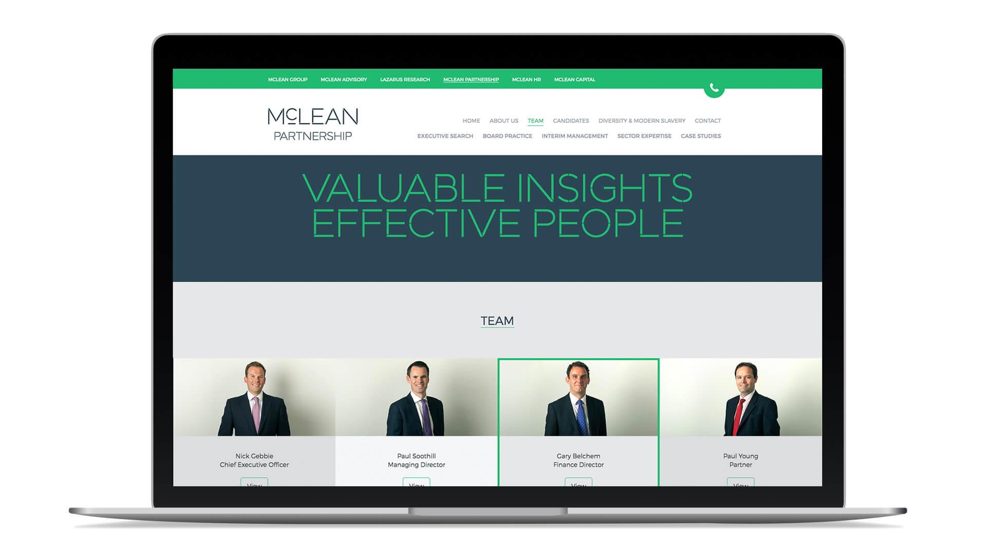 mclean group rebranding web design website design website build