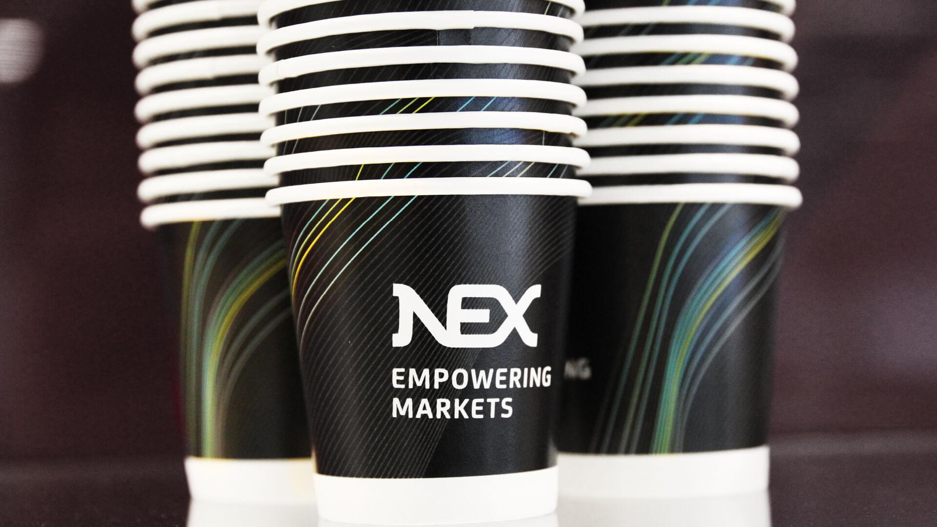 nex brand launch office branding