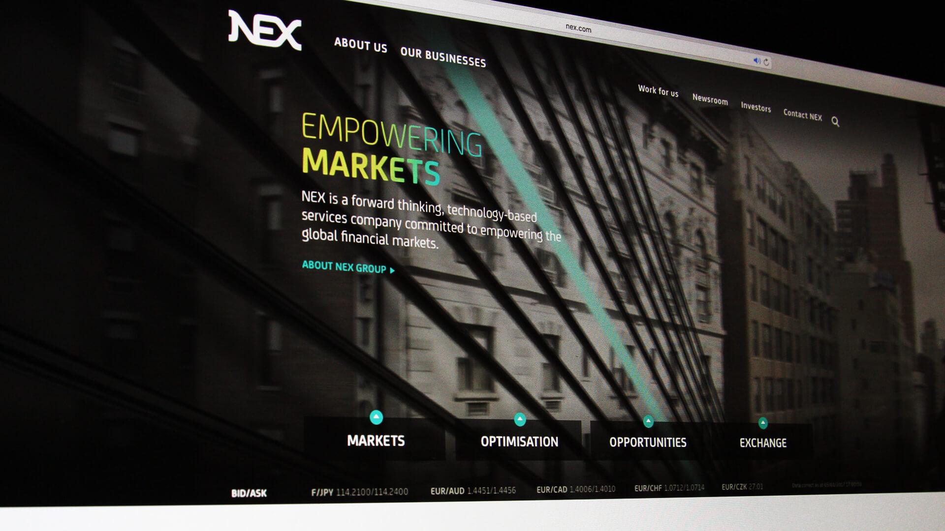 NEX website design template production digital branding