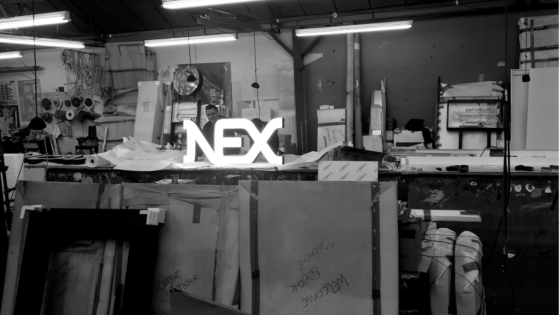 nex logo 3d design and production management