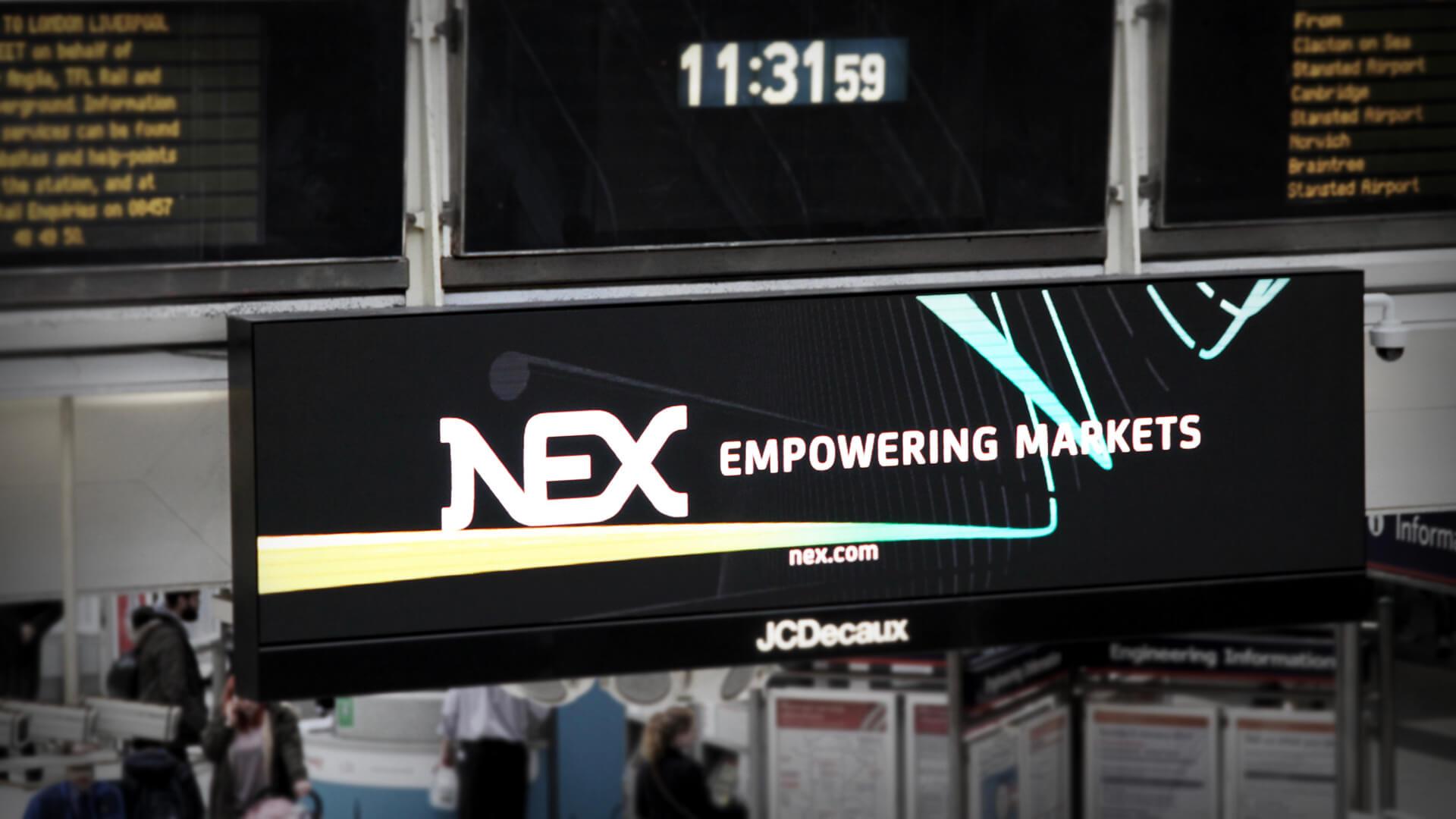 nex advertsing campaign liverpool street station