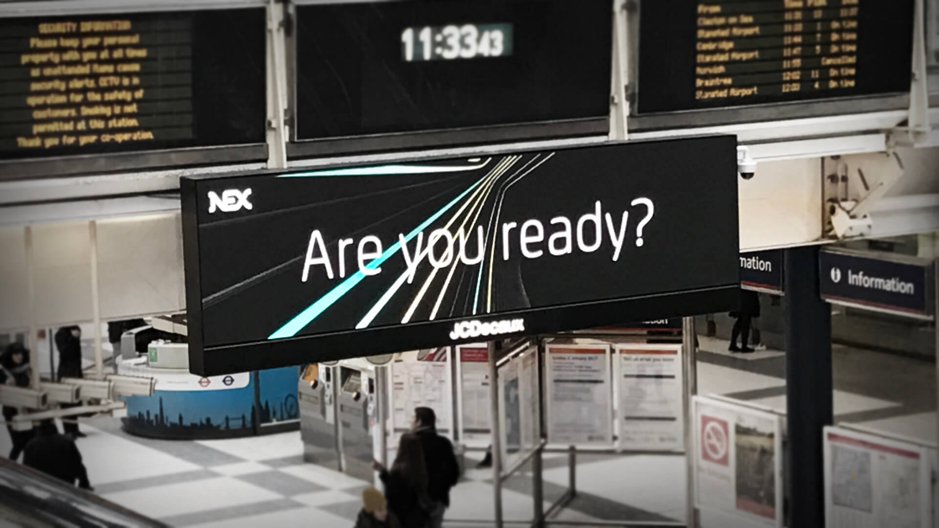 nex advertsing campaign liverpool street