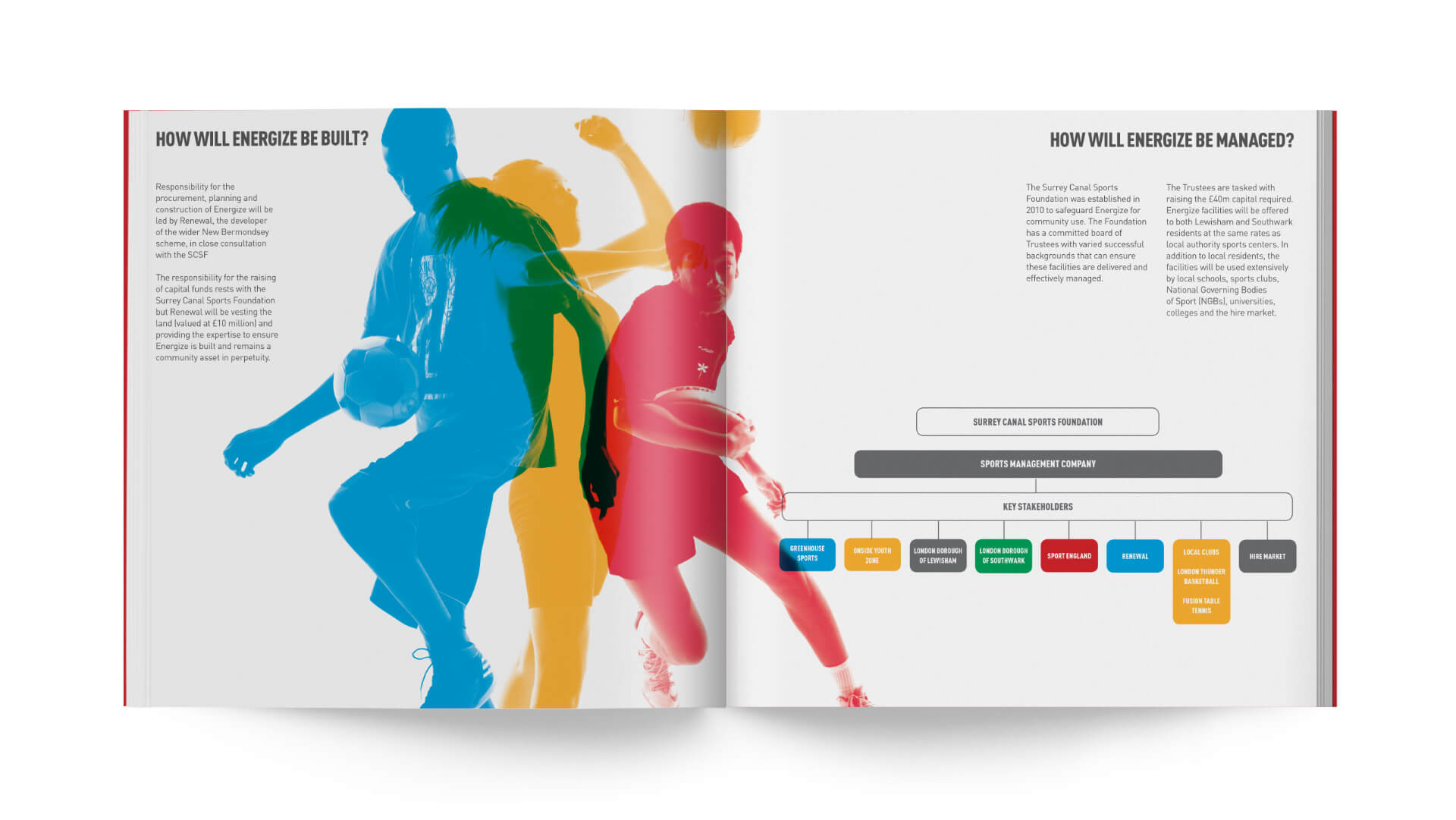 new bermondsey energise sports foundation brochure report
