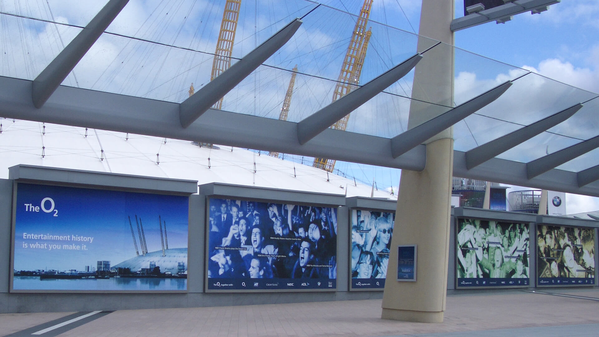 the o2 venue branding signage posters campaign repositioning