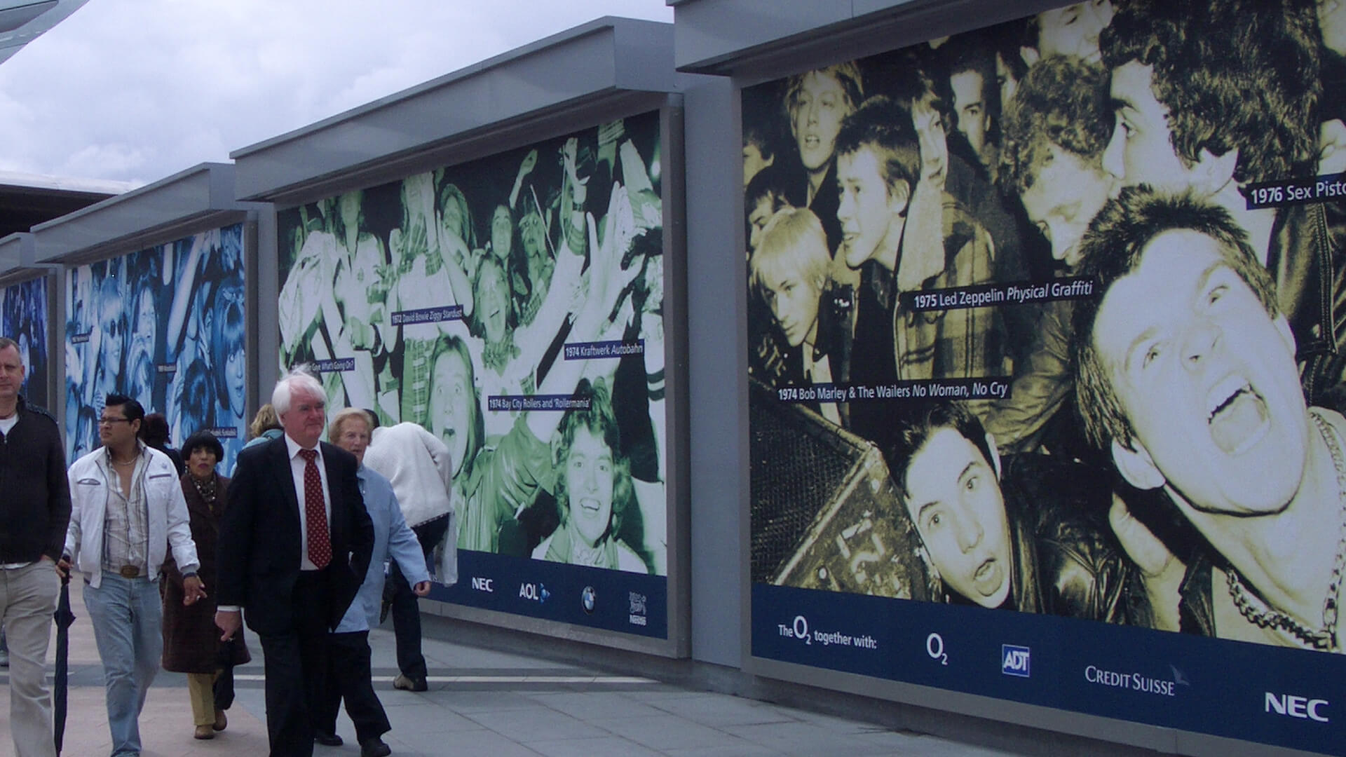 the o2 venue branding signage posters