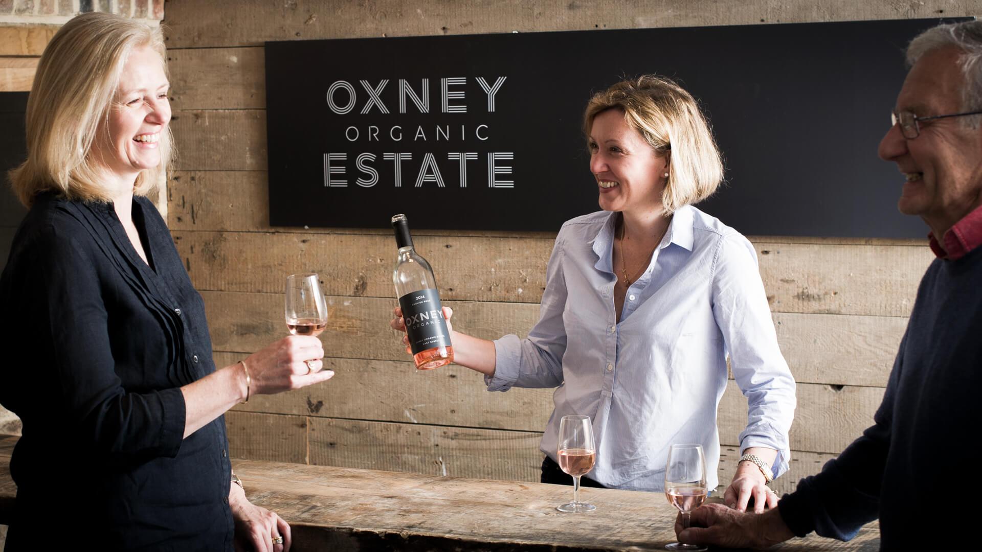 oxney organic estate wine tasting centre signage event branding