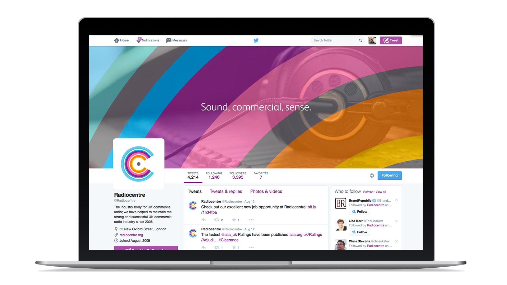 radiocentre brand identity logo design social media