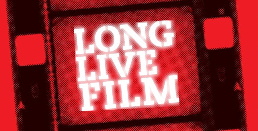 BFI long live film logo design