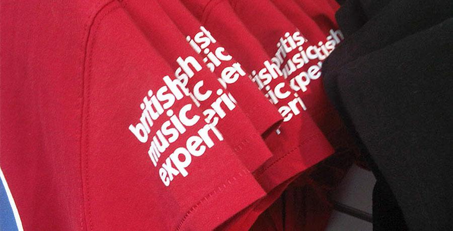 British music experience merchandise design
