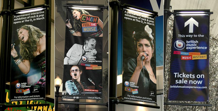 British music experience outdoor campaign