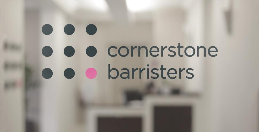 cornerstone barristers logo design