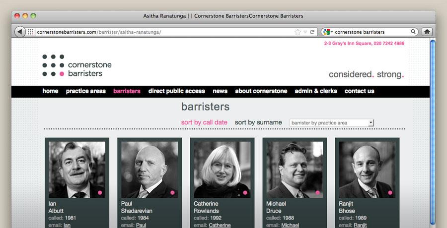 cornerstone barristers branding