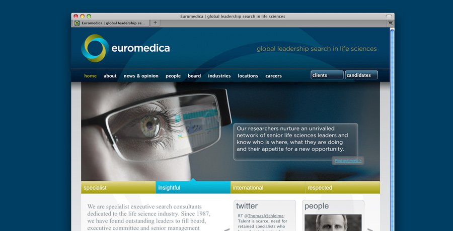Euromedica website design build