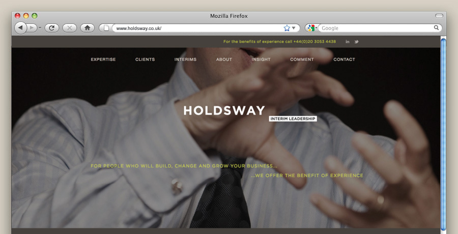 Holdsway website design build messaging