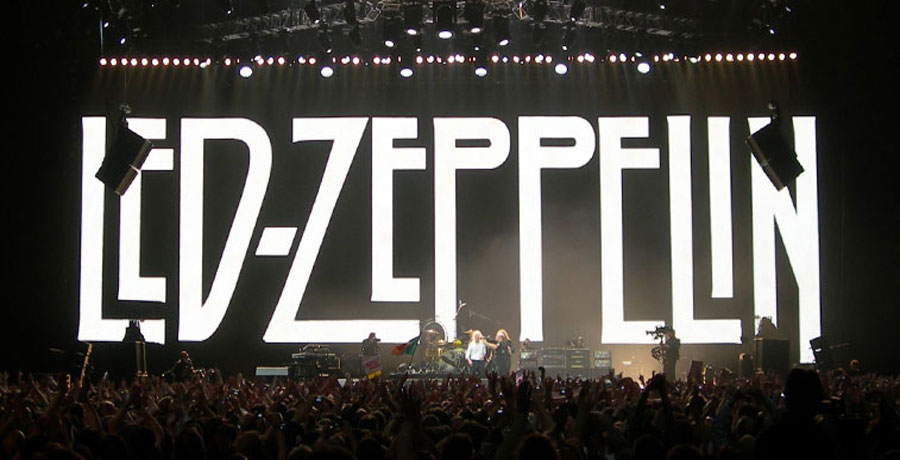 Led Zeppelin stage design the o2