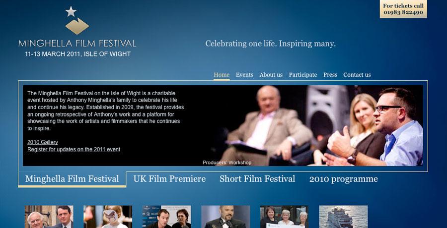 minghella film festival website design build