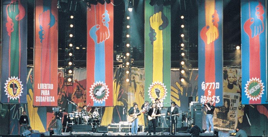 nelson mandela concert stage design