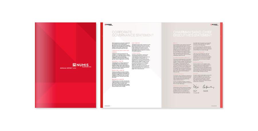 numis brand launch brochure design