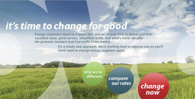 ovo energy brand positioning website design copywriting