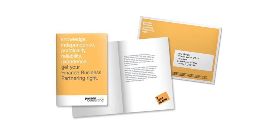 parson consulting marketing campaign design copywriting