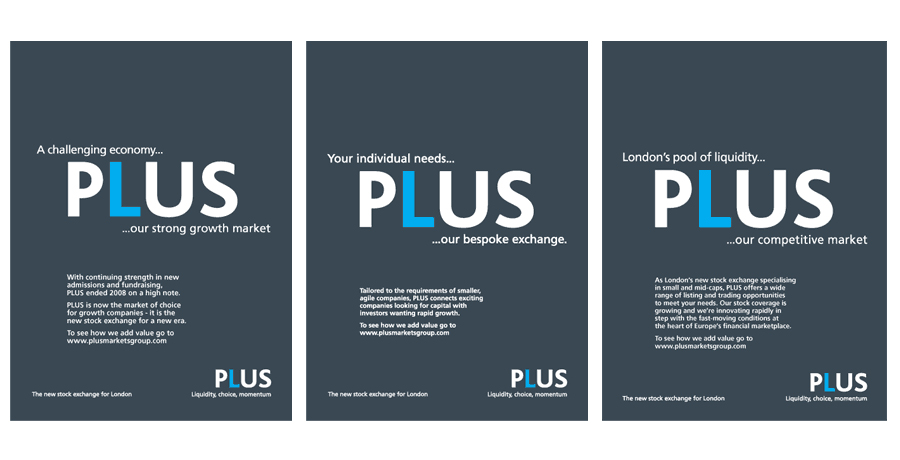 Plus markets advertising campaign