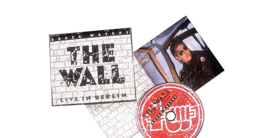 Roger waters the wall berlin CD cover and booklet design
