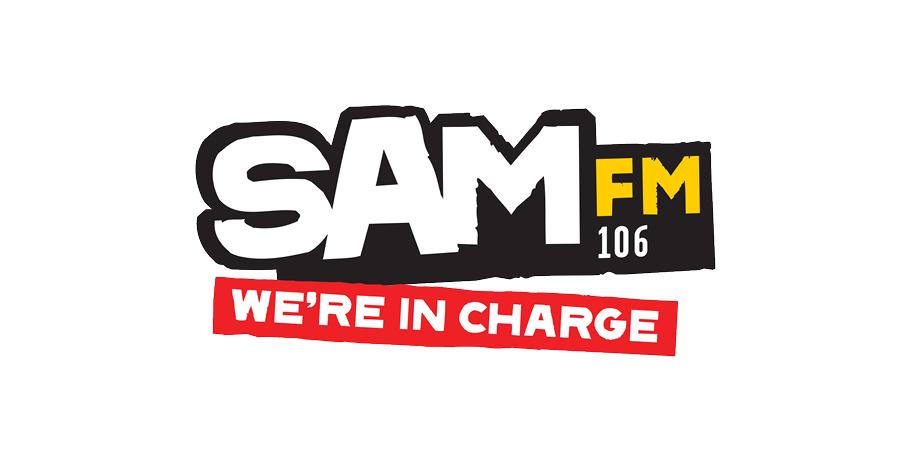 Sam FM brand logo design