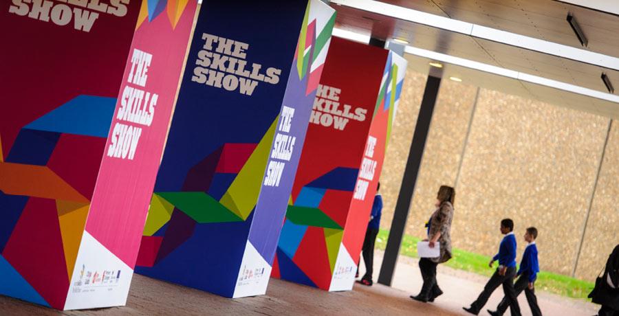 skills show exhibition branding
