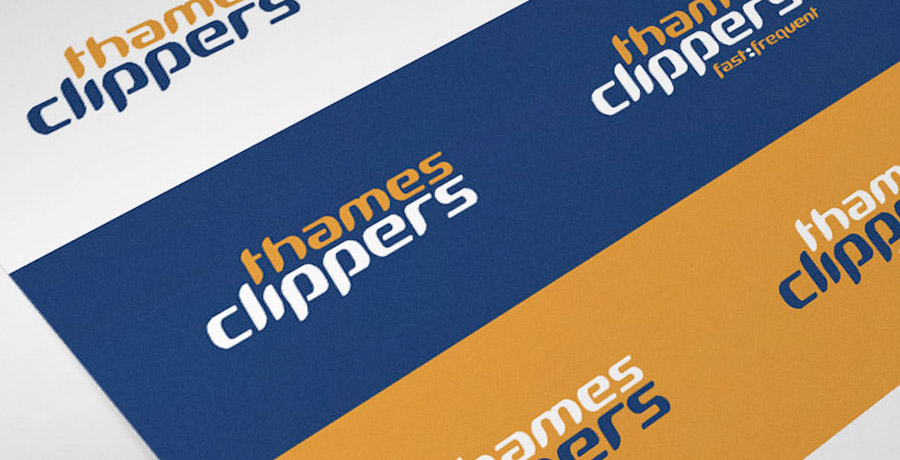 thames clippers brand identity system