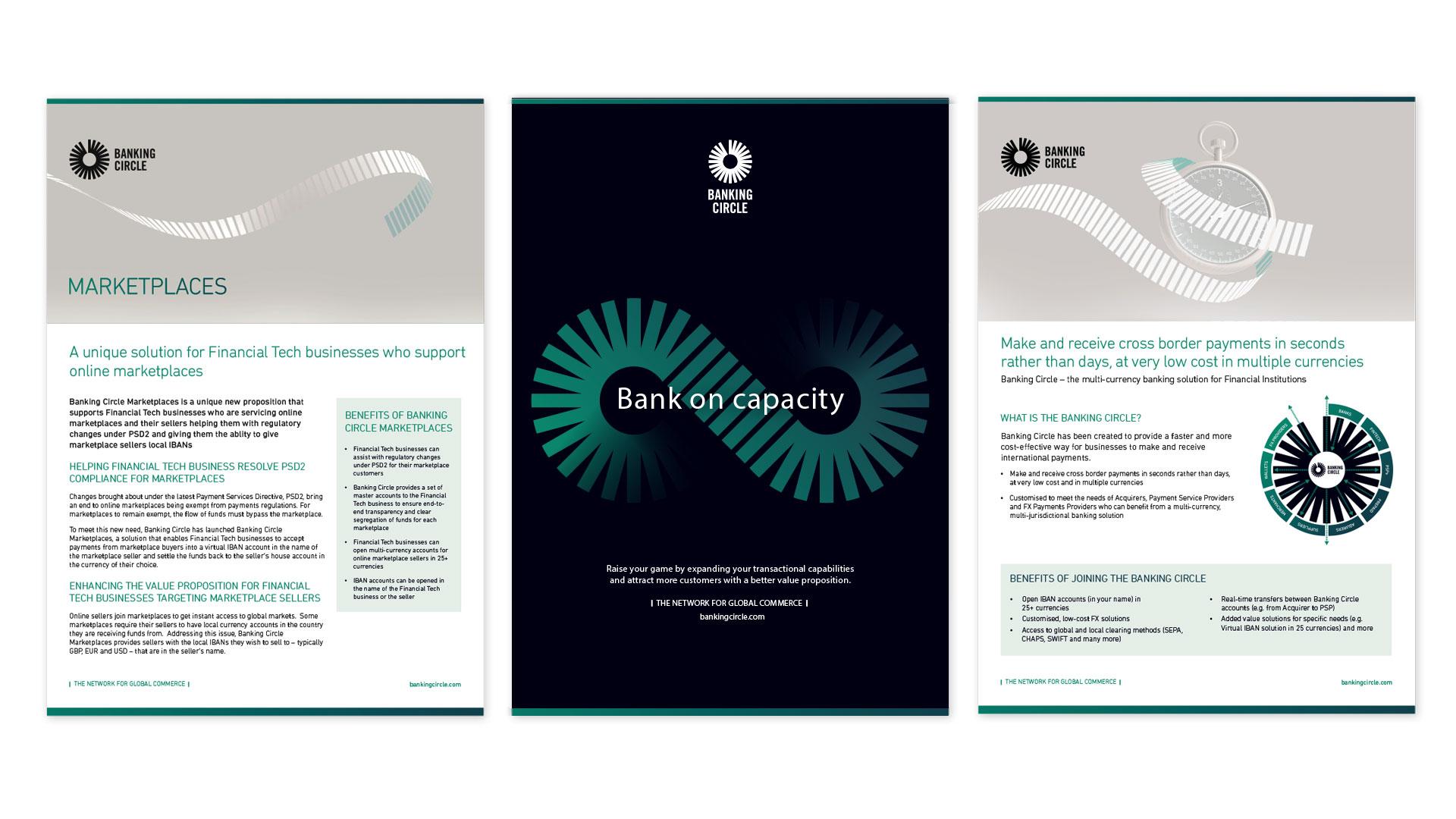 banking circle literature design