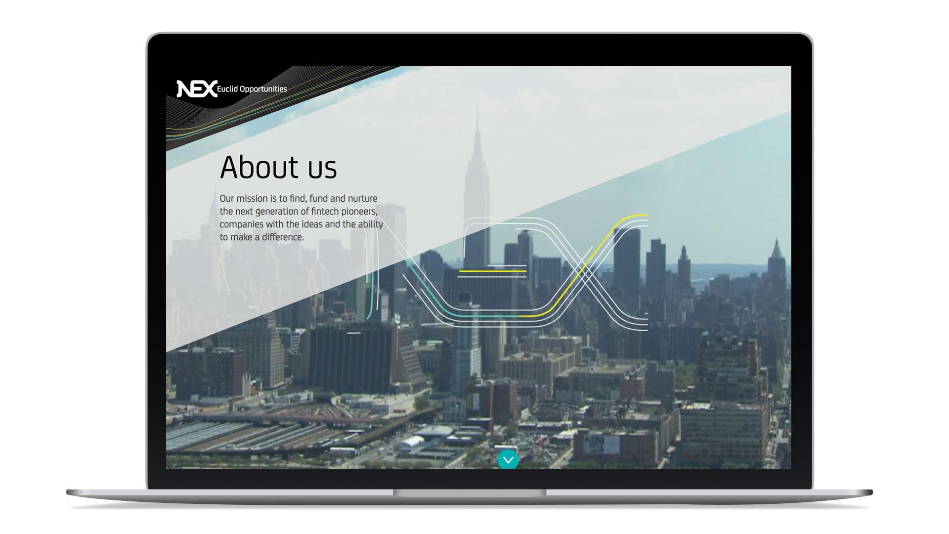 nex opportunities branding naming website design